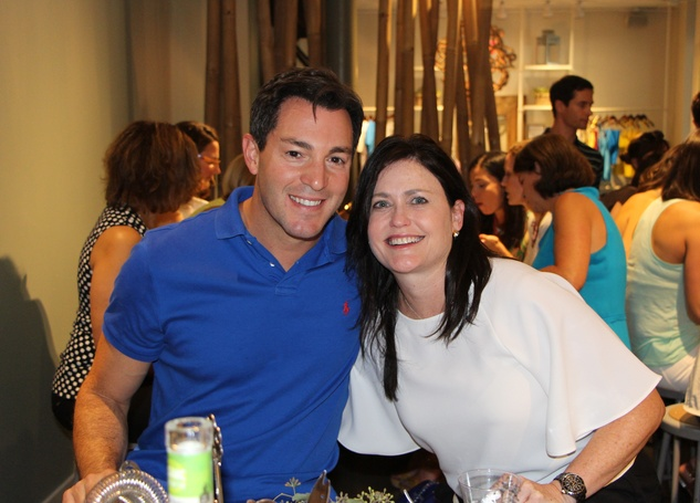 Andy Cerota and Jackie Grant Perin at the Define Body & Mind cocktail party July 2014