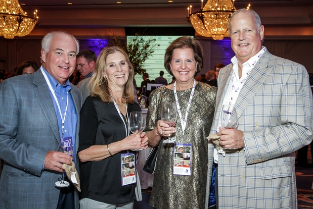 Houston, Periwinkle Foundation Sommelier Competition, September 2015, Bill and Sandy Bryan; Cyndi and Steve Ford