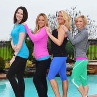 Cari Shoemate Houston's fittest moms March 2015 Fit Friends Kelsey Byers, Hilary Hagner Hall, Cari Shoemate and Jamie Middleton (Eason) March 2015