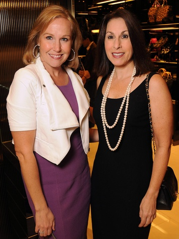 Deana Blackburn, left, and Janine Lannarelli at the Gucci Alley Theatre cocktail party October 2013