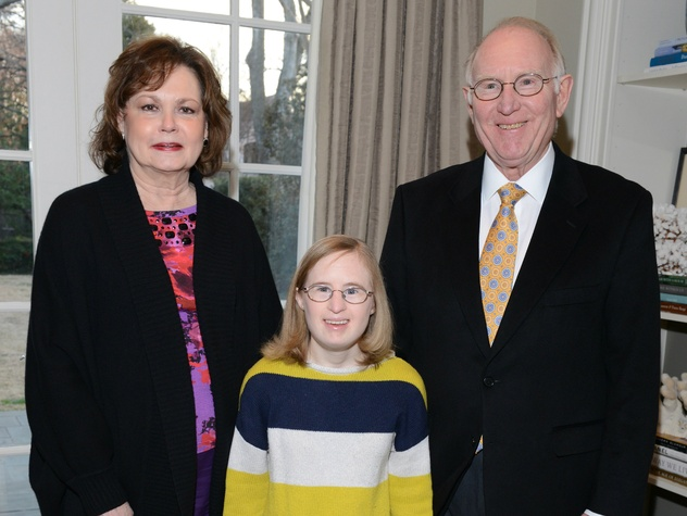 Roy & Rebecca Pendergrass with daughter Emily, launchability sponsor party