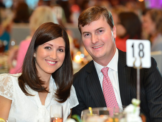 Caroline and Will Brown at the Memorial Hermann Razzle Dazzle Pink Luncheon October 2013