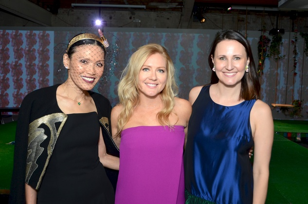 07 Duyen Huynh, from left, Caroline Starry LeBlanc and Kate Allen Stukenberg at the DiverseWorks Fashion Fete November 2014
