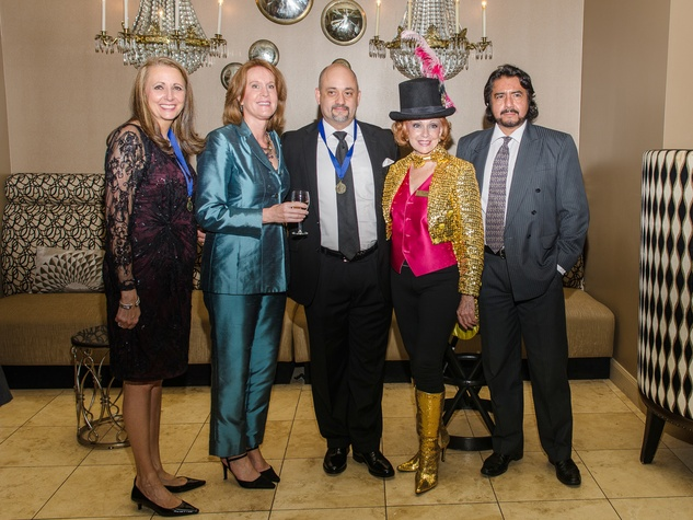 26 Elaine Stolte, from left, Patricia Villafranca, Stephen Morris, Dot Cunningham and Miguel Villafranca at the Be An Angel Gala May 2014