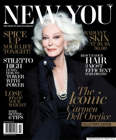 Carmen Dell'Orefice on the cover of New You magazine
