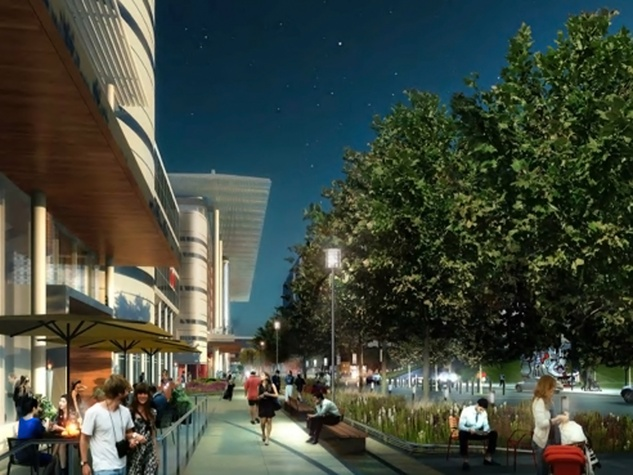 George R. Brown Convention Center upgrades along Avienda de las Americas Street rendering February 2015