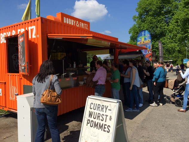 Olympic Park Munich Currywurst truck