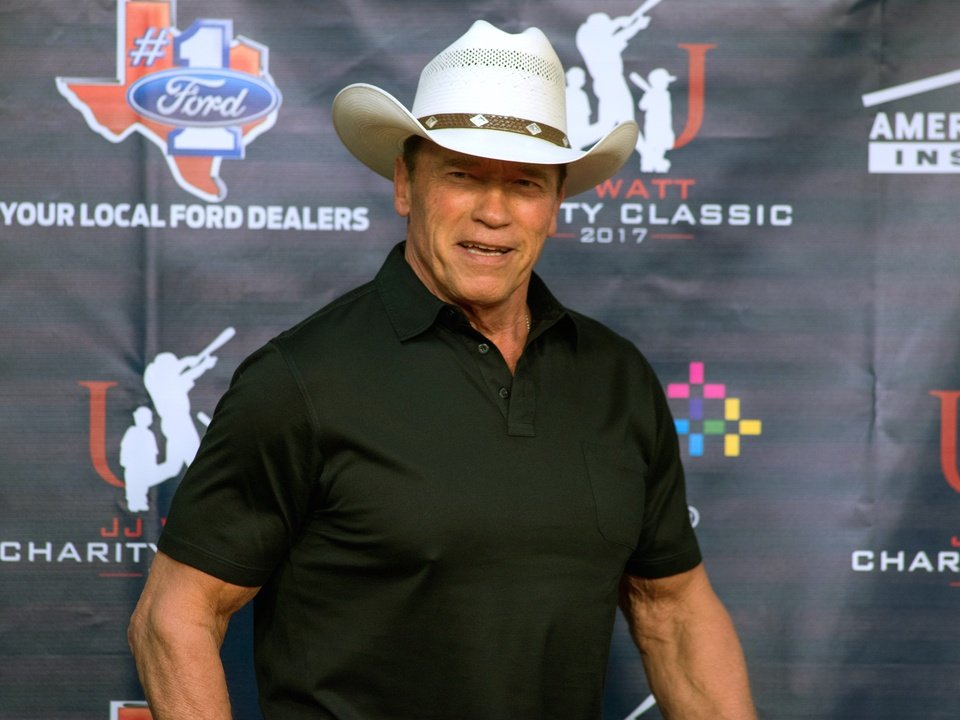 Houston, J.J. Watt Charity Classic, May 2017, Arnold Schwarzenegger
