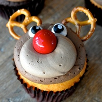 Marene, chef foodie gifts, Vanessa O'Donnell, Rudolf the Red Nosed Reindeer Cupcakes, December 2012