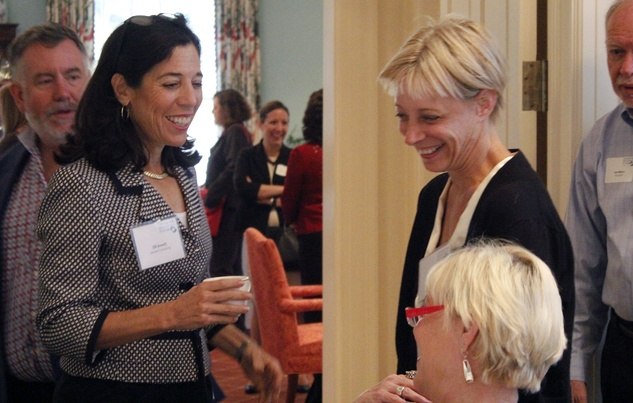 Jill Jewett, left, and Debra Simon at Center for Houston's Future event August 2014
