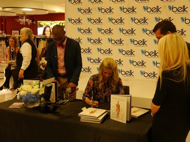 Nicky Hilton book signing at belk