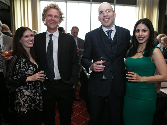 46 Sarah and Jeff Peterson, from left, and Dr. Petros Carvounis and Sepi Shirali at the Opera in the Heights Gala June 2014