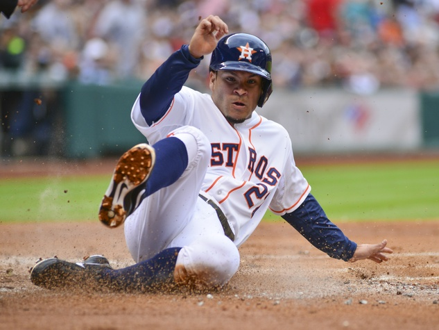 Astros opener dirt slide