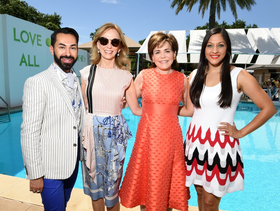 Houston, River Oaks and Tootsies tennis tournament luncheon, April 2017, Fady Armanious, Susan Sarofim, Hallie Vanderhider, Sippi Khurana