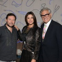 21 Nacho Rodriguez-Bach, from left, Mariana Valdes Debes and Rick Friedman at the HFAF 2014 Opening Night September 2014