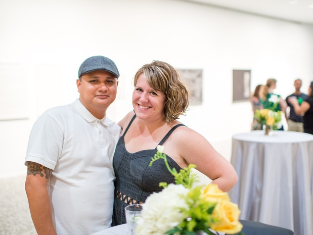 Moses Martinez and Sara Brown at the Art Crowd Soto at the MFAH June 2014