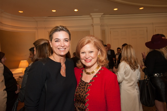 Mary Elizabeth Hahnfeld, left, and Jan Duncan at the Foundation for Teen Health luncheon October 2014