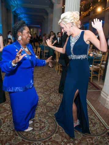 35 Sheila Jackson Lee, left, and Desiree Simpson at Houston Symphony Opening Night Gala September 2014