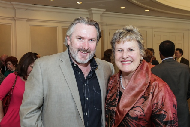 18 Simon O'Neill and Rhonda Sweeney at the Moores School of Music Luncheon November 2014