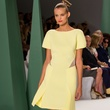 Fashion Week spring 2015 Carolina Herrera yellow cut-outs