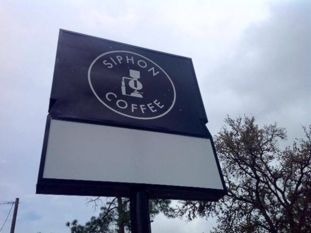 Siphon Coffee Houston sign