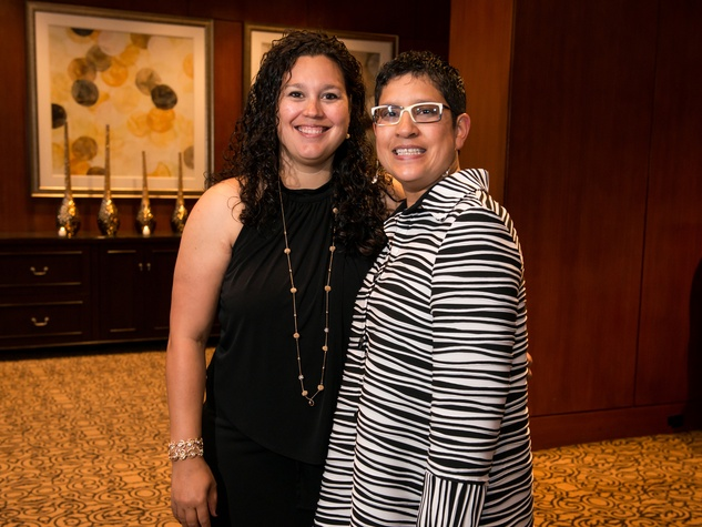 Julie Doyle and Naomi Madrid at the Crisis Intervention Gala April 2014
