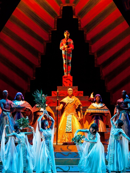 Houston Grand Opera Verdi's Aida with Alin Anger as Ramfis and HGO chorus and supers