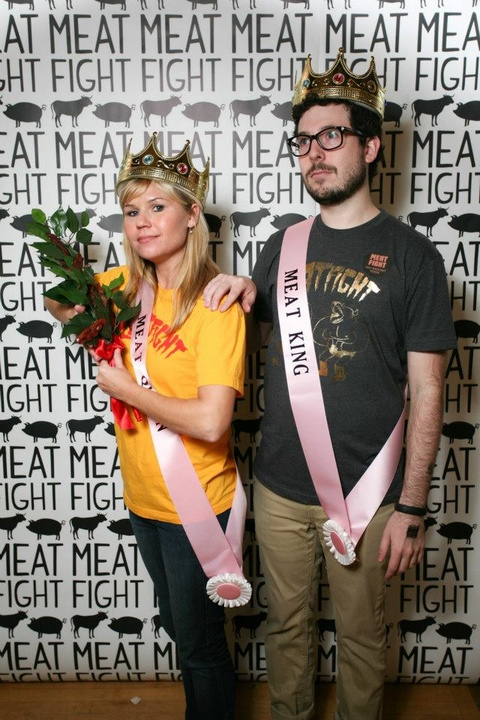 Nikki Lott and Connor Hill at Meat Fight in Dallas