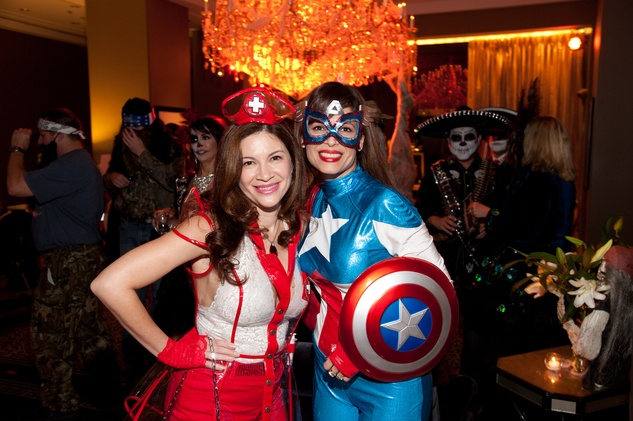 2 Alex Blair, left, and Karina Barberi at the Bone Bash Halloween party October 2013