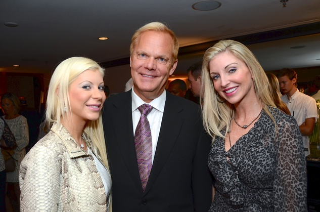 Meka and Kevin Coxon, from left, with Amy Hairr at the Children at Risk luncheon October 2014