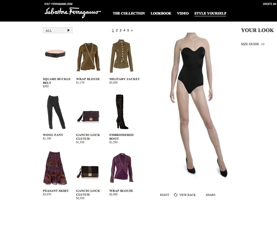 Salvatore Ferragamo, digital trunk show