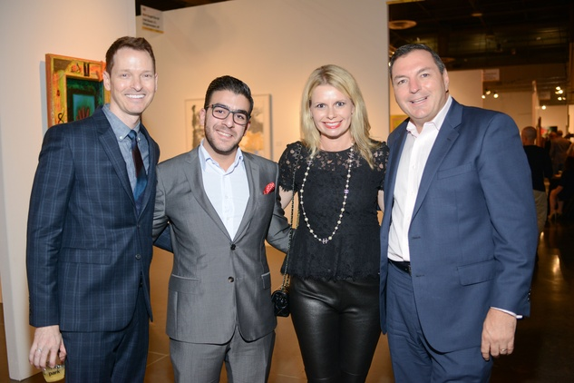 2 Brian Mcculloch, from left, Talal Elkhayat, and Valerie and Tracey Dieterich at the HFAF 2014 Opening Night September 2014
