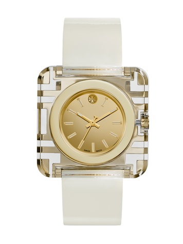 Tory Burch watch collection October 2014 The Izzie white band