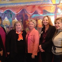 Jessica Rossman, Cindy Clifford, Mayor Annise Parker, Nancy Barnes, Dana Kervin at La Griglia November 2013
