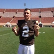Johnny Manziel in Browns football jersey May 2014