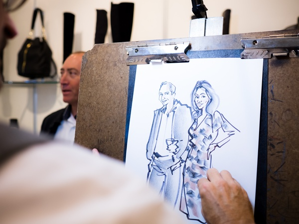 Style sketch at 2014 CultureMap Stylemaker Awards