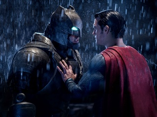Ben Affleck and Henry Cavill in Batman v Superman