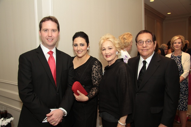Todd Forester, from left, Kelli Kickerillo and Mary and Vincent Kickerillo at the Houston Living Legend fundraiser dinner May 2014
