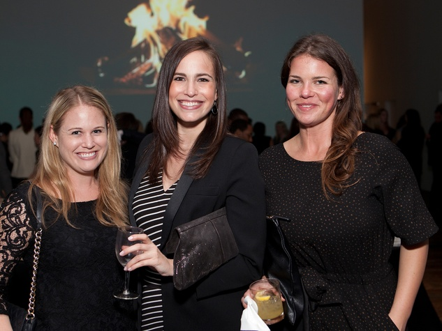 13 Lindsay Grossman, from left, Tracy Leibovitz and Jessica Phifer at the Menil Young Professionals party December 2013