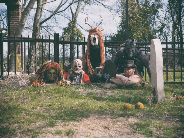 Reindeer Manor Halloween Park in Red Oak
