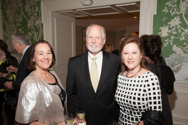 Mary Milby Brown, from left, with Bill and Sandy Turner at the Jung Center dinner April 2014