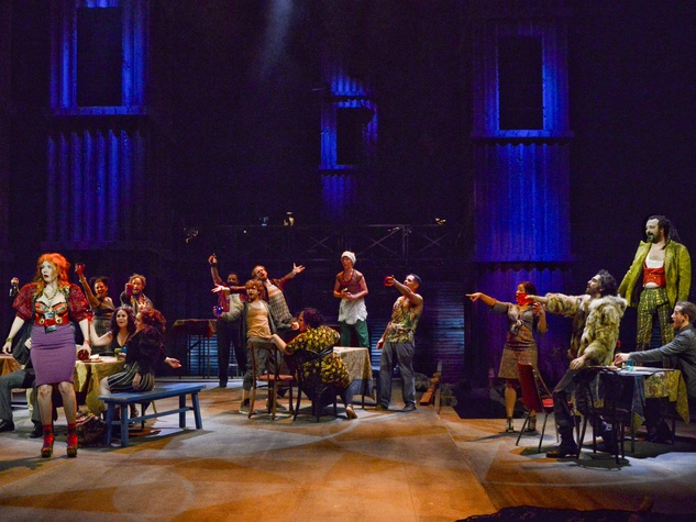 Master of the House scene in Dallas Theater Center's Les Miserables