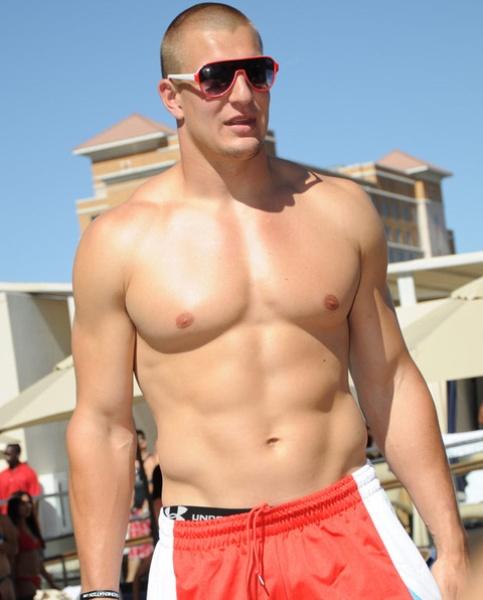 Full Sized Photo of rob gronkowski strips shirtless