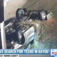 teenagers who went missing after crashing into White Oak Bayou over the weekend September 2013