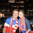 Zack And Kassie Harris at the World Cup Watch Party with Dynamo players at Local Pour June 2014
