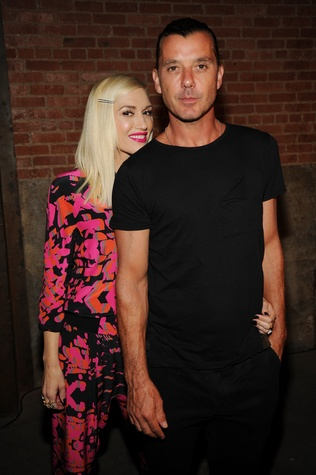 Gwen Stefani and Gavin Rossdale at L.A.M.B. spring collection presentation