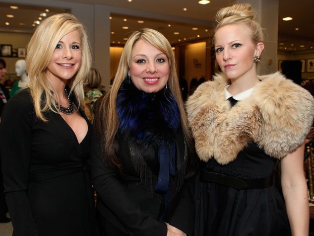 5 Hollie Wells, from left, Karen Lix and Emily Cotton at the Galveston Mardi Gras gown preview January 2014