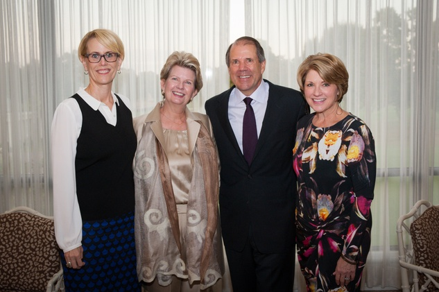 3 Anne Culver, from left, Margaret Lloyd, Ric Campo and Claudia Williamson at the Scenic Houston Annual Dinner November 2014