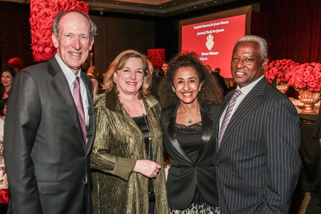 Marc Shapiro, from left, Molly Crownover, Dr. Dina al Sowayel and Tony Chase at the Interfaith Ministries Tapestry Gala May 2014