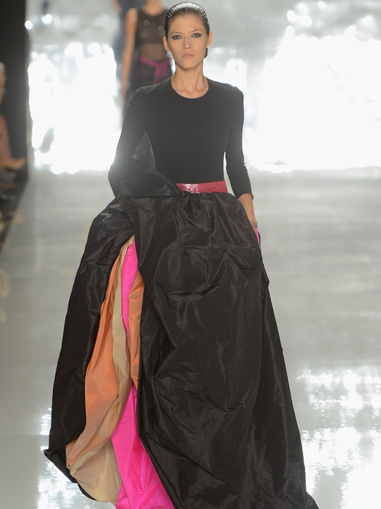 Clifford, Fashion Week spring 2013, Sunday, Sept. 9, 2012, Chado Ralph Rucci, black gown, bright layers